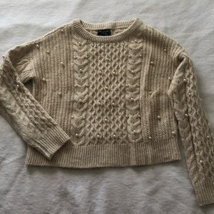 Abercrombie + fitch pearl sweater